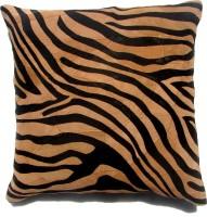 Homeblendz Abstract Cushions Cover(40 cm*40 cm, Black, Brown)