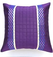 Ans Floral Cushions Cover(40 cm*40 cm, Purple)