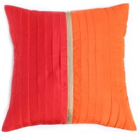 Ans Floral Cushions Cover(40 cm*40 cm, Red)