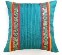 Ans Floral Cushions Cover(40 cm*40 cm, Green)