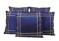 HOME SHINE Geometric Cushions Cover(Pack of 5, 40 cm*40 cm, Blue)