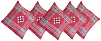 Shreejee Geometric Cushions Cover(Pack of 5, 40 cm*40 cm, Multicolor)