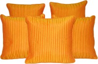 HOME SHINE Plain Cushions Cover(Pack of 5, 30 cm*30 cm, Gold)