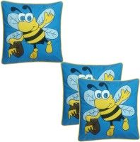 Hugs N Rugs Embroidered Cushions Cover(Pack of 3, 40 cm*40 cm, Multicolor)