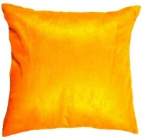 Chandra Impex Plain Cushions Cover(Pack of 5, 30.48 cm*30.48 cm, Yellow)