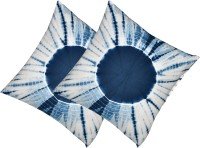 Kanha Homes Self Design Cushions Cover(Pack of 2, 40 cm*40 cm, Blue)