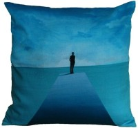 Indian Colours Abstract Cushions Cover(41 cm*41 cm, Blue)