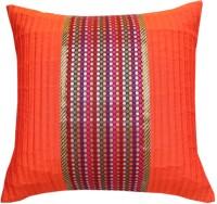 Ans Floral Cushions Cover(40 cm*40 cm, Orange)