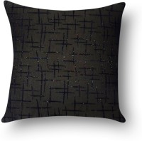First Row Embroidered Cushions Cover(40 cm, Black)