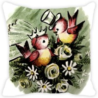 Leaf Designs Abstract Cushions Cover(31 cm*31 cm, Multicolor)