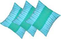 Kanha Homes Self Design Cushions Cover(Pack of 3, 40 cm*40 cm, Green)