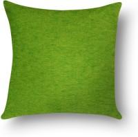 First Row Plain Cushions Cover(40 cm, Green)