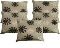 HOME SHINE Embroidered Cushions Cover(Pack of 5, 40 cm*40 cm, Silver)