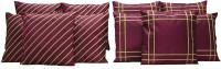 HOME SHINE Geometric Cushions Cover(Pack of 10, 40 cm*40 cm, Purple)