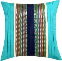 Ans Floral Cushions Cover(40 cm*40 cm, Light Blue)