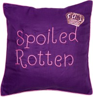 Band Box Embroidered Cushions Cover(40.64 cm*40.64 cm, Purple)