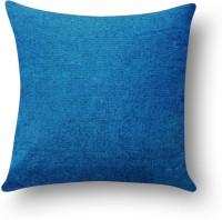 First Row Plain Cushions Cover(40 cm, Blue)