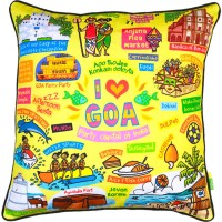 Eco Corner Abstract Cushions Cover(40.5 cm*40.5 cm, Multicolor)