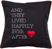 Band Box Embroidered Cushions Cover(40 cm*40 cm, Black)