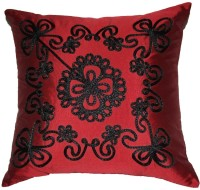Homewards Embroidered Cushions Cover(Red)