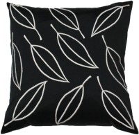 Homewards Embroidered Cushions Cover(Black, White)