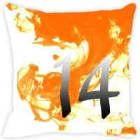Leaf Designs Abstract Cushions Cover(41 cm*41 cm, Orange)