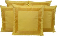 HOME SHINE Striped Cushions Cover(Pack of 5, 40 cm*40 cm, Yellow)