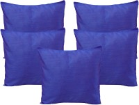 HOME SHINE Striped Cushions Cover(Pack of 5, 40 cm*40 cm, Blue)
