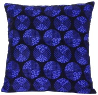 First Row Embroidered Cushions Cover(40 cm, Blue)