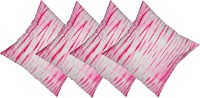 Kanha Homes Self Design Cushions Cover(Pack of 4, 40 cm*40 cm, Pink)
