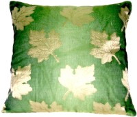 Homeblendz Abstract Cushions Cover(40 cm*40 cm, Green, Gold)