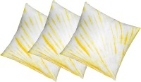 Kanha Homes Self Design Cushions Cover(Pack of 3, 40 cm*40 cm, Yellow)