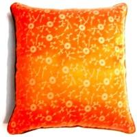 Homeblendz Damask Cushions Cover(40 cm*40 cm, Orange)