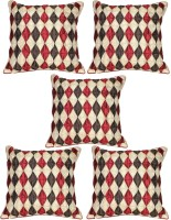 Mysha Geometric Cushions Cover(Pack of 5, 41 cm*41 cm, Multicolor)