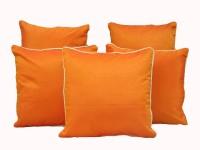 HOME SHINE Striped Cushions Cover(Pack of 5, 30 cm*30 cm, Orange)