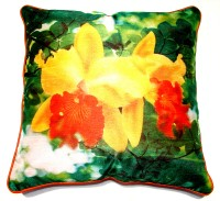 Homeblendz Floral Cushions Cover(40 cm*40 cm, Multicolor)