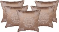 Zubix Damask Cushions Cover(Pack of 5, 40 cm*40 cm, Beige)