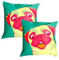 Homeblendz Abstract Cushions Cover(Pack of 2, 40 cm*40 cm, Multicolor)