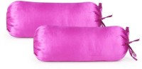 First Row Plain Bolsters Cover(Pack of 2, 77 cm, Purple)