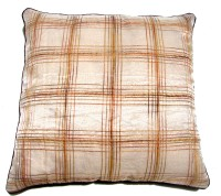Homeblendz Checkered Cushions Cover(40 cm*40 cm, Beige)