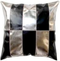 Homeblendz Abstract Cushions Cover(40 cm*40 cm, Black, Silver)