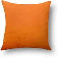First Row Plain Cushions Cover(40 cm, Orange)
