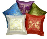Amazing India Embroidered Cushions Cover(Pack of 5, 40 cm*40 cm, Multicolor)