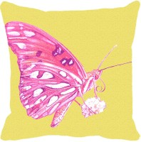 Leaf Designs Printed Cushions Cover(41 cm*41 cm, Pink)