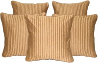 HOME SHINE Plain Cushions Cover(Pack of 5, 30 cm*30 cm, Beige)