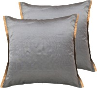 Ans Striped Cushions Cover(Pack of 2, 40 cm*40 cm, Grey)
