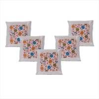 First Row Embroidered Cushions Cover(Pack of 5, 40 cm, Multicolor)