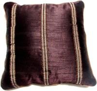 Homeblendz Striped Cushions Cover(40 cm*40 cm, Brown)
