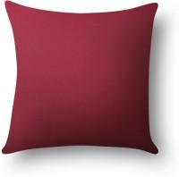 First Row Plain Cushions Cover(40 cm, Purple)