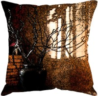 Fabulloso Abstract Cushions Cover(31 cm*31 cm, Brown)